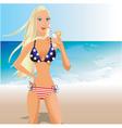 usa bikini vector image vector image