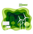 world environment day abstract green city concept vector image
