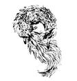Watercolor fox vector image