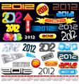 2012 logos vector image vector image