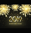 2019 happy new year background with glitter vector image