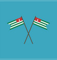 abkhazia flag icon in flat design vector image vector image