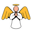 angel icon icon cartoon vector image