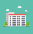 apartment in flat style vector image