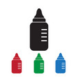baby milk bottle icon vector image vector image
