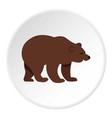 bear icon circle vector image