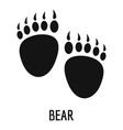 bear step icon simple style vector image