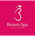 beauty logo vector image vector image