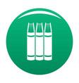 book pile icon green vector image vector image