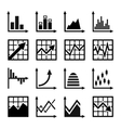 Business chart and graphics icons set vector image vector image