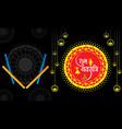 celebrate navratri festival design vector image vector image