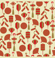 chinese lanterns and decor seamless pattern vector image vector image