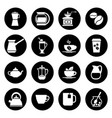 coffee icons set in black and white vector image