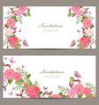 collection horizontal banners with blossom of vector image vector image