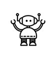 cute robot technology character artificial linear vector image