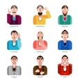 Emotion icons set vector image vector image