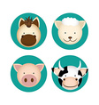 farm animals design vector image