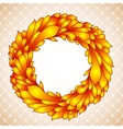 Floral wreath of yellow autumn leaves vector image