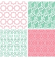 Four pastel abstract swirl motives seamless vector image vector image
