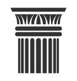greek column icon sculpture and monument element vector image vector image