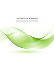 green waves abstract background vector image vector image