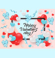 happy valentines day greeting card or banner with vector image