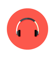 Headset Flat Circle Icon vector image vector image
