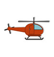 helicopter aviation aircraft vector image vector image