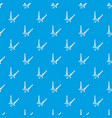 high wheat pattern seamless blue vector image vector image