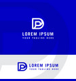 initial letter logo pd dp logo template vector image vector image