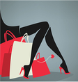 legs and bags vector image vector image