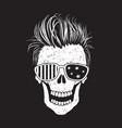 modern american skull like a usa flag vector image vector image