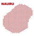 nauru map - mosaic of lovely hearts vector image vector image