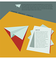 Paper Rocket Create for business template concept vector image vector image