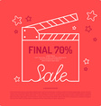 Poster discount sale vector image vector image