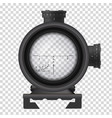 realistic sniper scope weapon accuracy and aim vector image