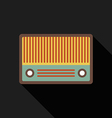 Retro vintage radio flat design isolated icon vector image vector image