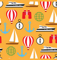 seamless pattern of travelling on pleasure vector image vector image