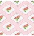 Seamless pattern with a bouquet of roses in the vector image