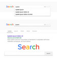 search bar field search engine browser vector image