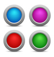 set colorful web buttons vector image vector image