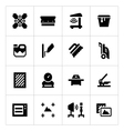 Set icons of screen printing vector image vector image