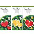 set of stickers with fruits hearts vector image vector image