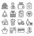shopping mall icons set on white background vector image vector image