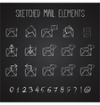 Sketched Mail Elements Set vector image vector image