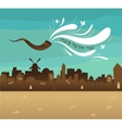 skyline of old city Jerusalem Yom kippur Jewish vector image vector image
