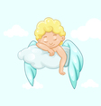 Sleeping angel on a cloud vector image vector image