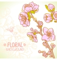 spring floral vector image