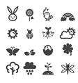 spring icon set vector image vector image