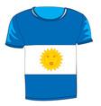 t-shirt flag argentina vector image